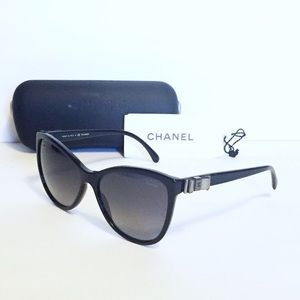 Chanel 5281 butterfly ribbon polarized sunglasses